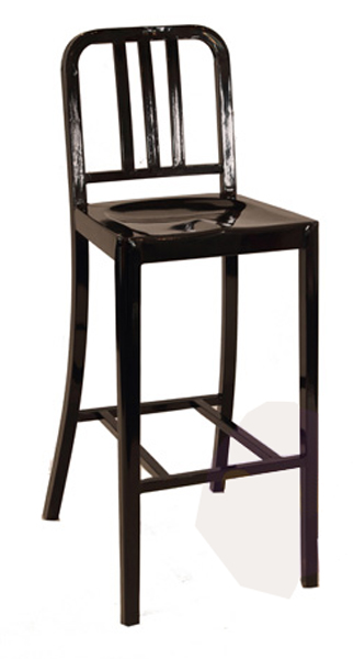 Navy Bar Stool by Emeco