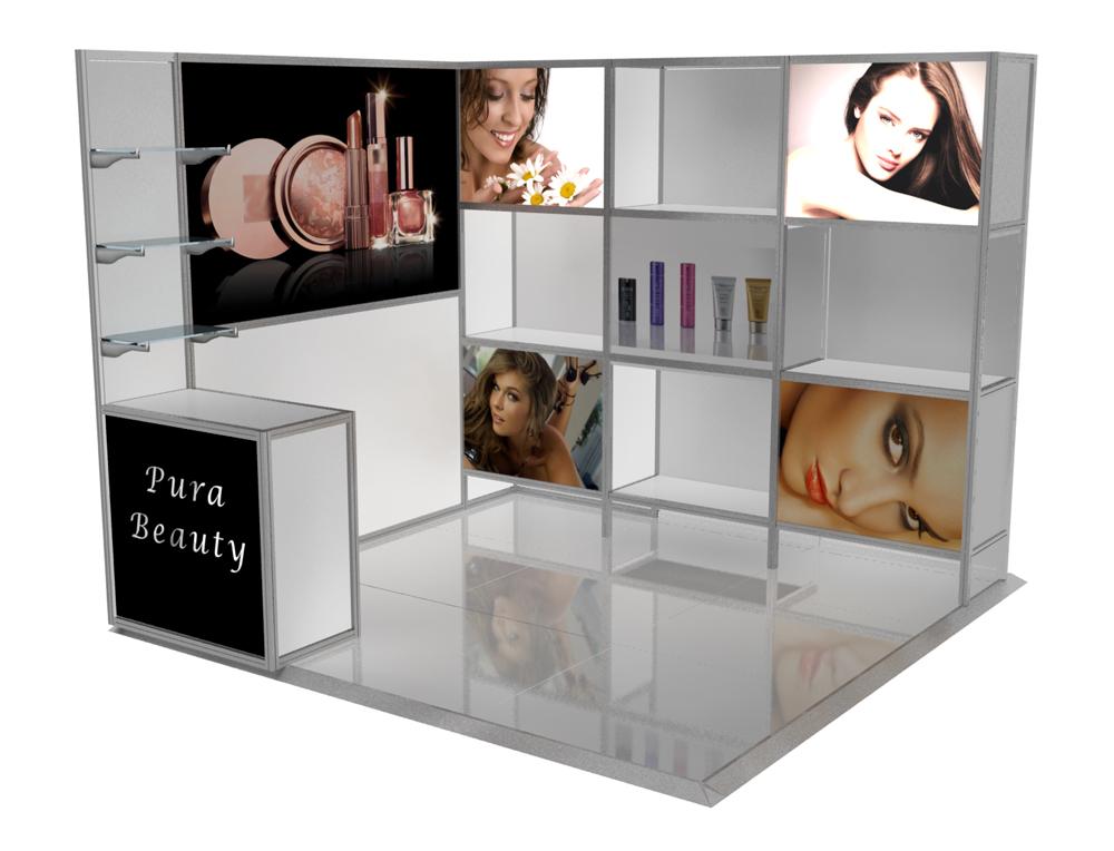 'Showroom' 3 X 3 Corner Stand
